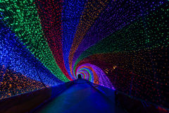 Colorful light tunnel Stock Image