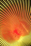 Colorful light vortex. Vortex of colorful yellow and red lights receding into distance, viewed under glass plate Royalty Free Stock Photos