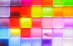 Colorful light wal Royalty Free Stock Image