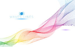 Colorful light waves line bright abstract pattern illustration Royalty Free Stock Photos