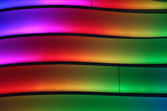 Colorful Lighted Wall Stock Photography