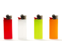 Colorful lighter row Royalty Free Stock Photo