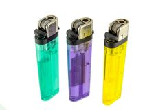 Colorful lighter Stock Photography