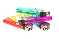 Colorful lighters Stock Image