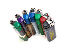 Colorful Lighters Stock Photography