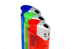 colorful lighters Στοκ φωτογραφία με δικαίωμα ελεύθερης χρήσης