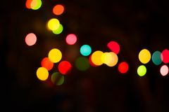 Colorful  Lighting  bokeh. Abstract  background. Colorful  Lighting  bokeh. Abstract  on dark background Royalty Free Stock Image