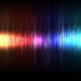 Colorful lighting and music wave background vector Royalty Free Stock Photos