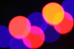 Colorful lighting spots. Some colorful blur lighting spots from spotlights Stock Photo