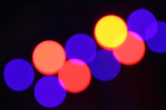 Colorful lighting spots shining. Some colorful blur lighting spots from spotlights Royalty Free Stock Image