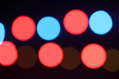 Colorful lighting spots sparkling. Some colorful blur lighting spots from spotlights Royalty Free Stock Images
