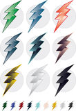 Colorful Lightning Bolts Royalty Free Stock Photography