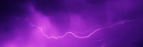 Lightning strike in the night sky Royalty Free Stock Photography