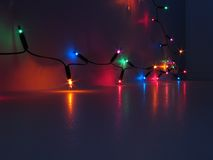Colorful lights. Colorful background with little lights Royalty Free Stock Images