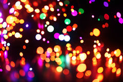Colorful lights background. Bright colorful christmas lights background Stock Image