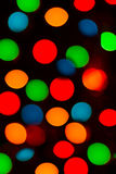 Colorful lights backround picture of Christmas tree Royalty Free Stock Photography