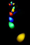 Colorful Lights in a Black Background Stock Photos