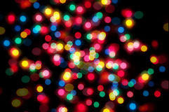 Colorful lights bokeh Royalty Free Stock Images