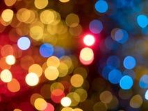 Colorful lights bokeh Stock Image