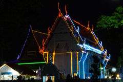Colorful lights Buddhist Church Stock Photos