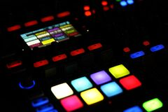 Colorful lights on control panel Royalty Free Stock Photos
