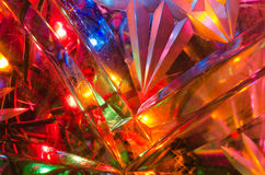 Colorful lights through crystal glass Royalty Free Stock Images