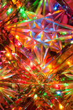 Colorful lights through crystal glass Royalty Free Stock Photo
