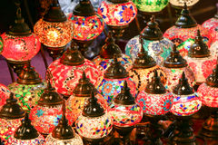 Colorful Lights. Colorful decorative lights arabian desert Royalty Free Stock Image