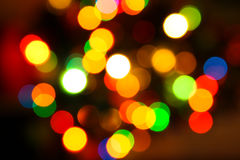 Colorful Lights Effects. Of a Christmas tree Stock Images