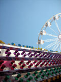 Colorful lights & ferris wheel Stock Photography