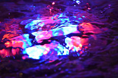 Colorful Lights Macro Fountain water Royalty Free Stock Photo