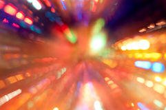 Colorful lights in motion Royalty Free Stock Images