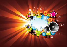 Colorful Lights and Music Background Stock Images