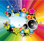 Colorful Lights and Music Background Stock Photography