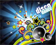 Colorful Lights and Music Background royalty free illustration