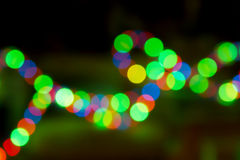 Colorful Lights out of Focus Royalty Free Stock Photography