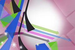 Colorful line and arrow with star, abstract background Stock Photography