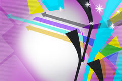 Colorful line and arrow with star, abstract background Stock Images