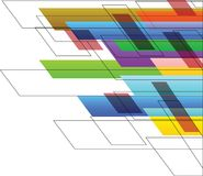 Colorful Line background Art. Design Royalty Free Stock Photo