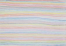 Colorful line background made from pencil color Stock Photography