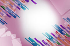 Colorful line both corner, abstract background Stock Images