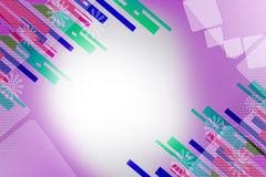 Colorful line both corner, abstract background Stock Photos