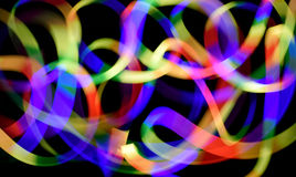 Colorful line come from light mobile phone move Stock Photo