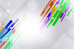Colorful line on corner with flower, abstract background Royalty Free Stock Photography
