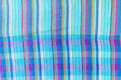 Colorful line patterned fabrics texture background Royalty Free Stock Images