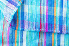 Colorful line patterned fabrics texture background Stock Images