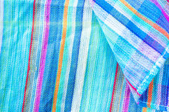 Colorful line patterned fabrics texture background Royalty Free Stock Image