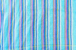 Colorful line patterned fabrics texture background Stock Photos