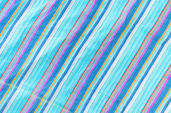 Colorful line patterned fabrics texture background Royalty Free Stock Photography