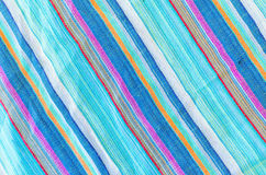 Colorful line patterned fabrics texture background Royalty Free Stock Photo